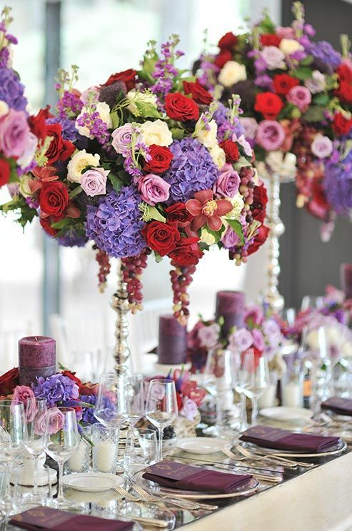Sumptuous Purple Red And White Roses Pink Cymbidium Orchids My