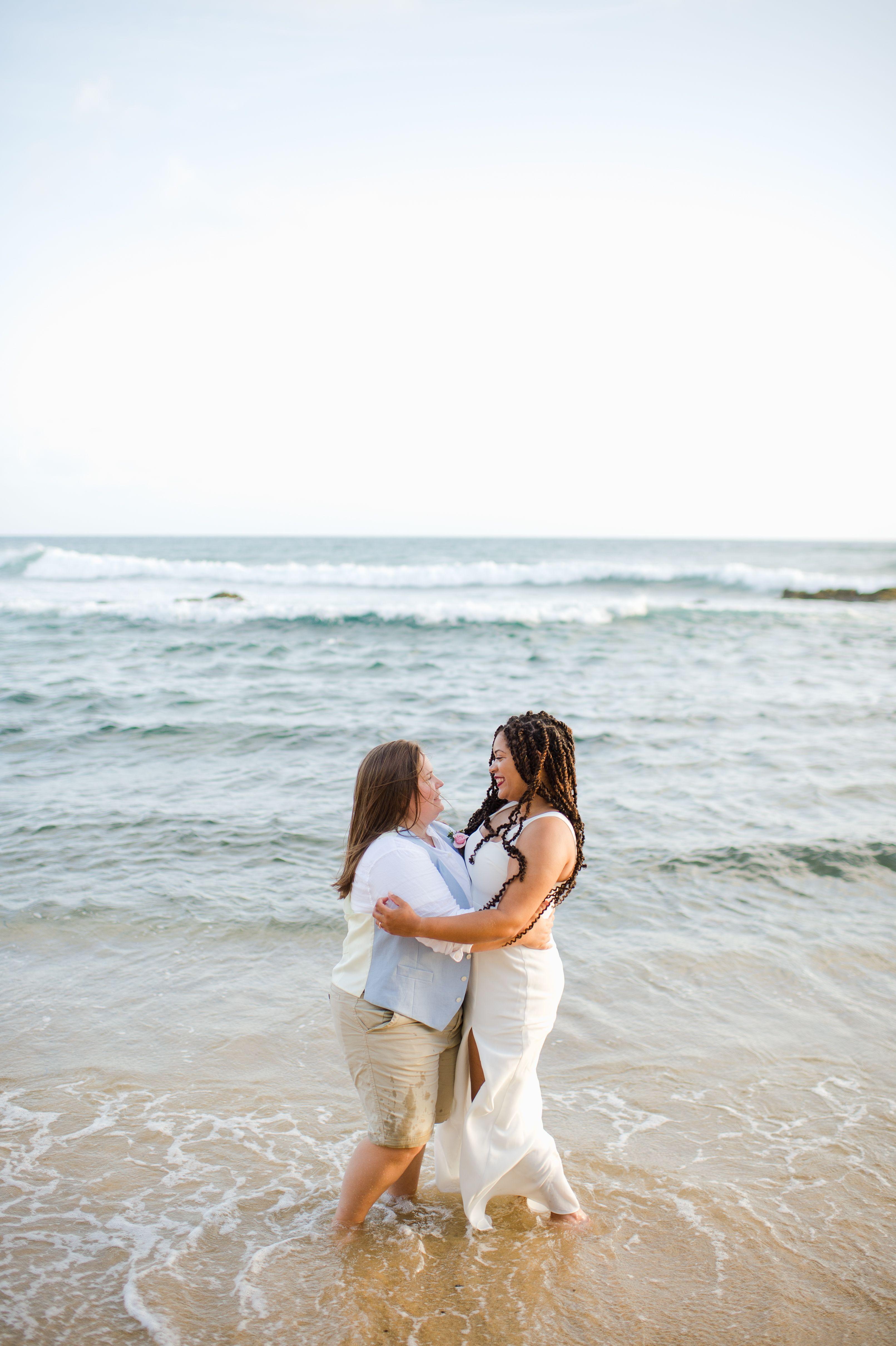 Jamie and Arika's Romantic Sunrise Beach Elopement Beach