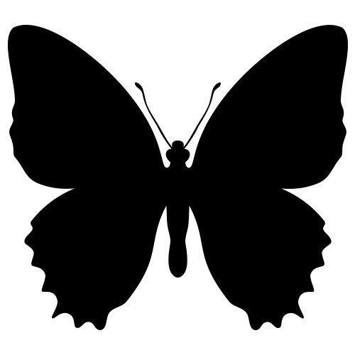 Pochoir papillon 4 gratuit imprimer pochoirs pinterest pochoir papillon pochoir a - Silhouette papillon imprimer ...