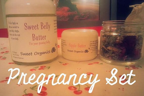 Pregnancy Set Organic by SweetOrganicsVT on Etsy-Great gift idea for an expecting mom