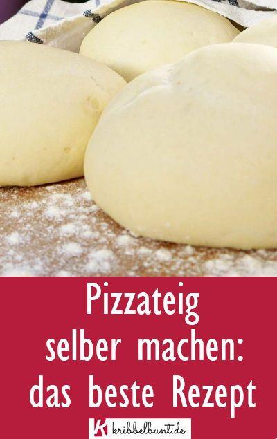 Original italienischer Pizzateig selber machen - Pizza Rezept