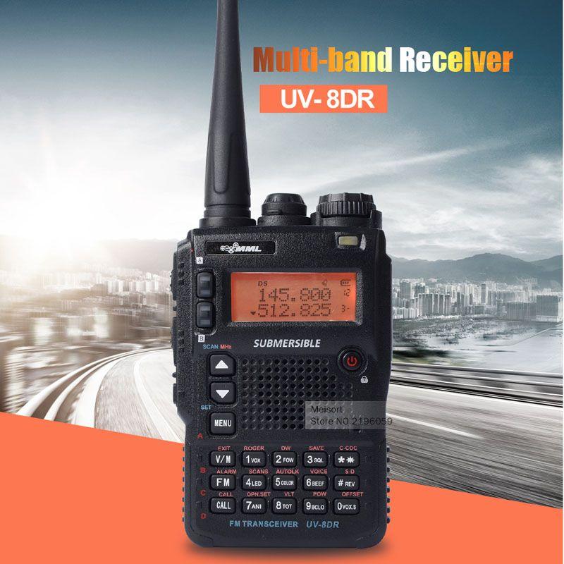 UV-8DR 세 트라이 밴드 136-174/240-260/400-520 백만헤르쯔 무전기 햄 라디오 128 채널 멀티 밴드 양방향 라디오