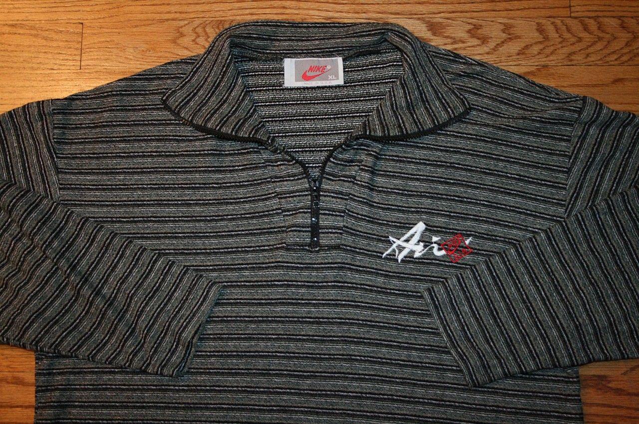 a86c7a1d85 Vintage NIKE AIR Half-Zip long-sleeve Polo SHIRT-XL-golf sports FAST FREE  SHIP