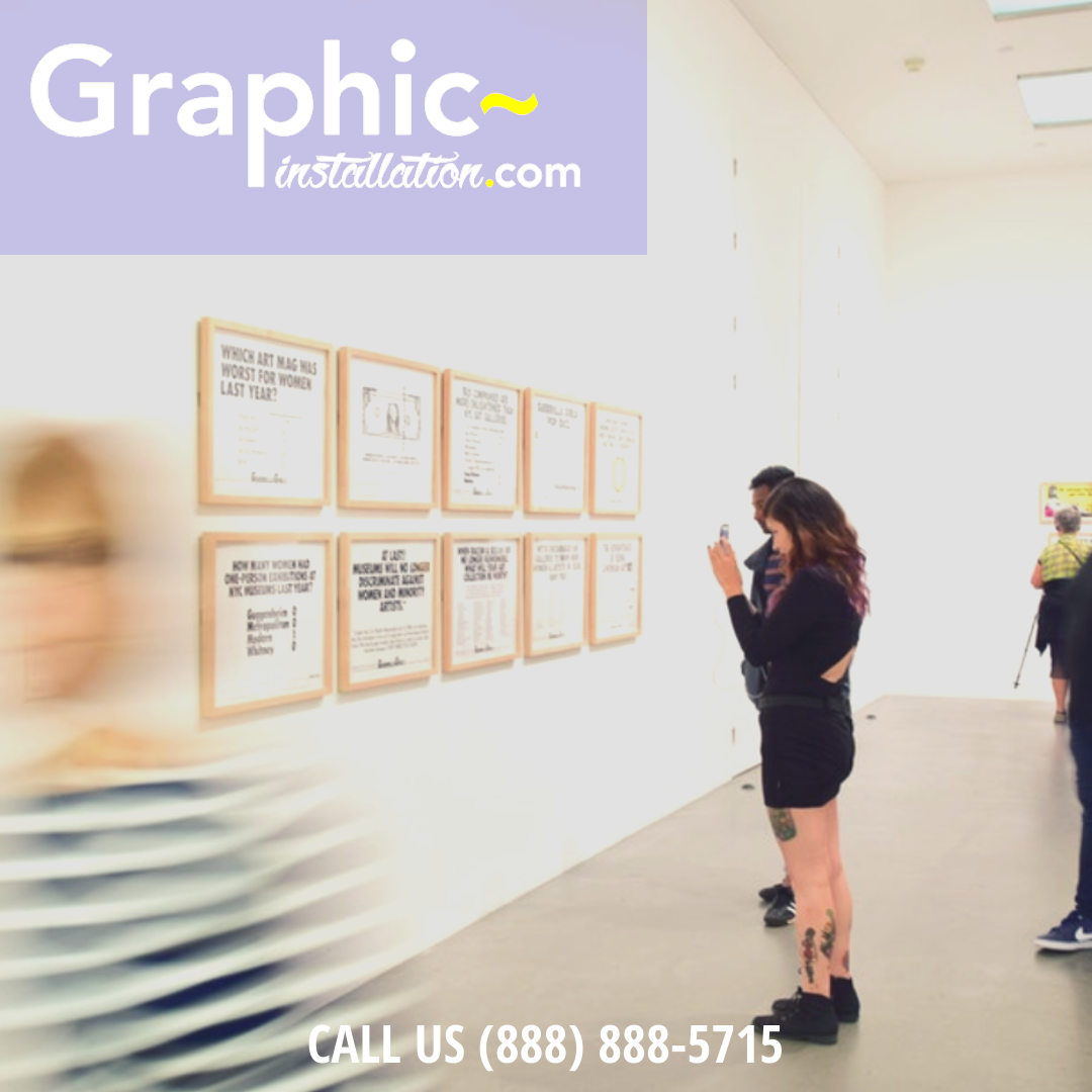 Graphic Installation Crew Will Go Nationwide To Dress Museum Walls For Their Exhibitions In Wallpaper Pressure Sensitive V Museum Exhibition Exhibition Museum