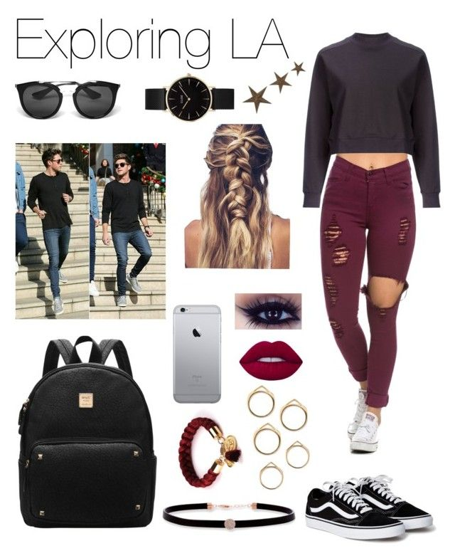 """""""Exploring LA with Niall🏙"""" by onedirection-fanfictionclothing ❤ liked on Polyvore featuring Astraet, Belk Silverworks, Lime Crime, Prada, CLUSE and Home Decorators Collection"""