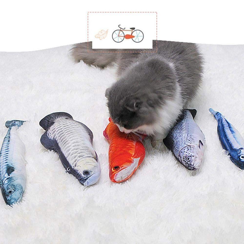 Aolvo Simulation Fish Cat Toys 2pcs Refillable Catnip Toys