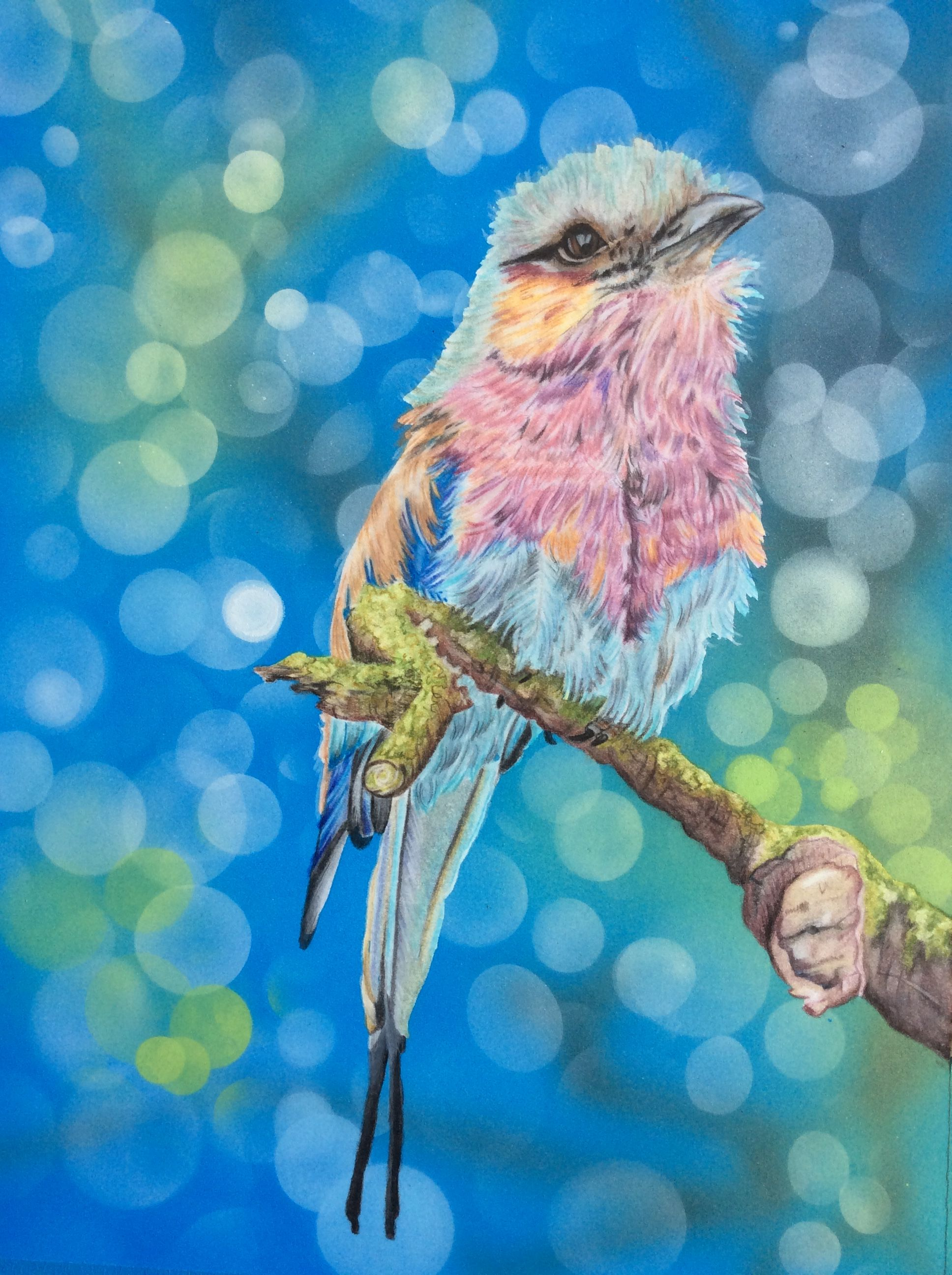 color pencils and air brush. original from Lachri Fine Art