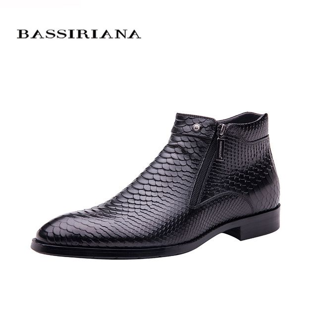 6158e5eda74 Check lastest price BASSIRIANA new 2017 fashion men shoes Lace-up Brown  black Full grain leather round toe Big siz 39-45 Free shipping just only   175.00 ...