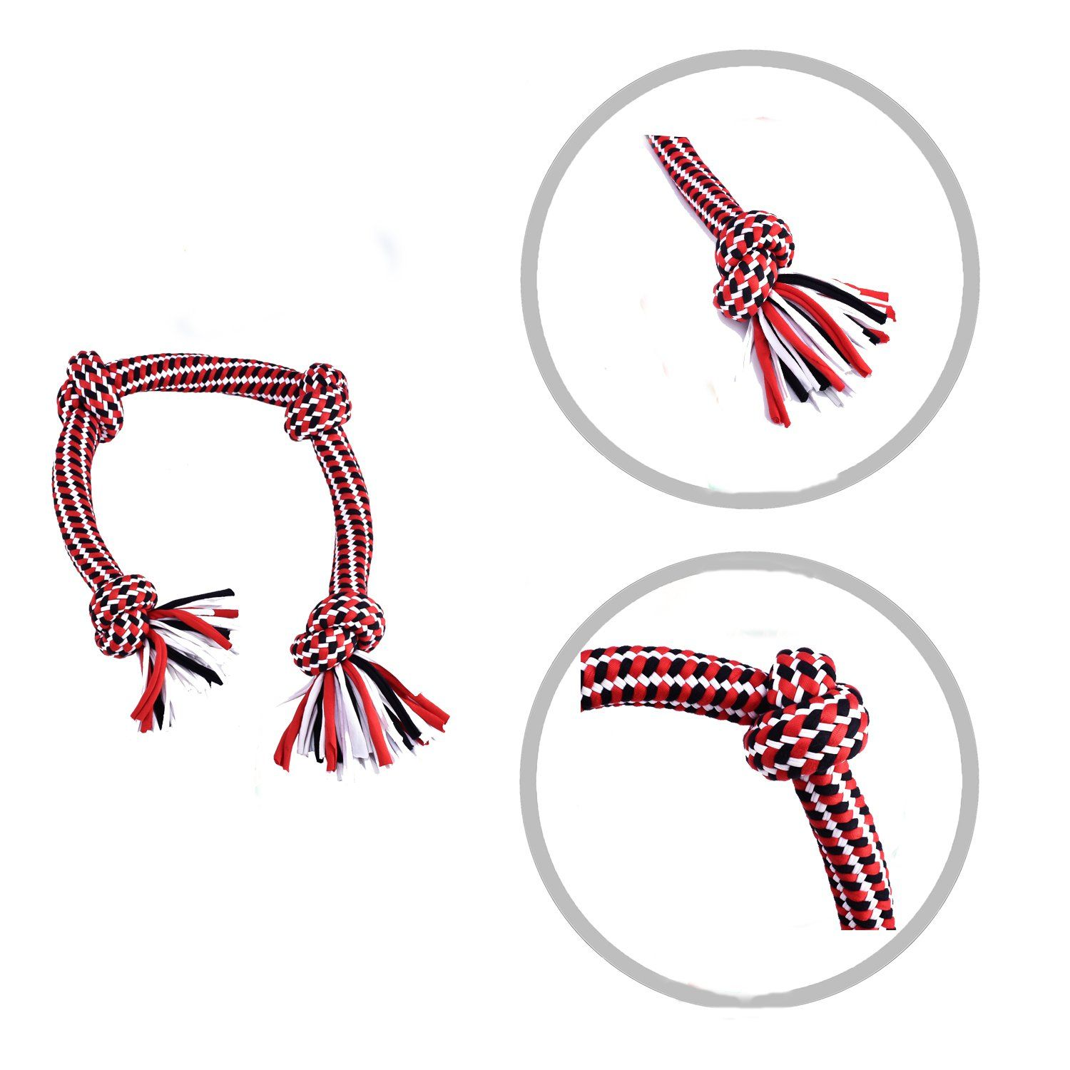 Jixiuzhen Large Dog Rope Toys Dog Chew Toys Tshirt Cloth Rope Dog