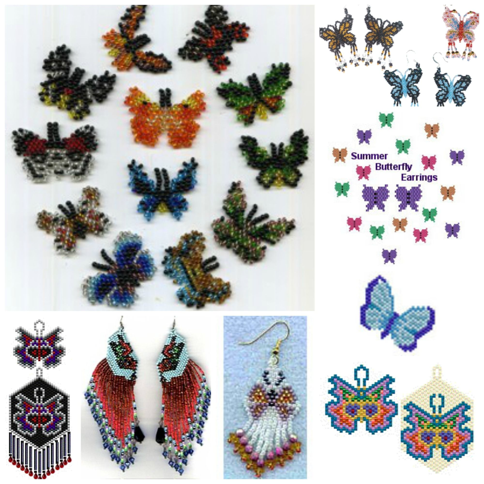 Beaded Butterfly Earring Patterns at and