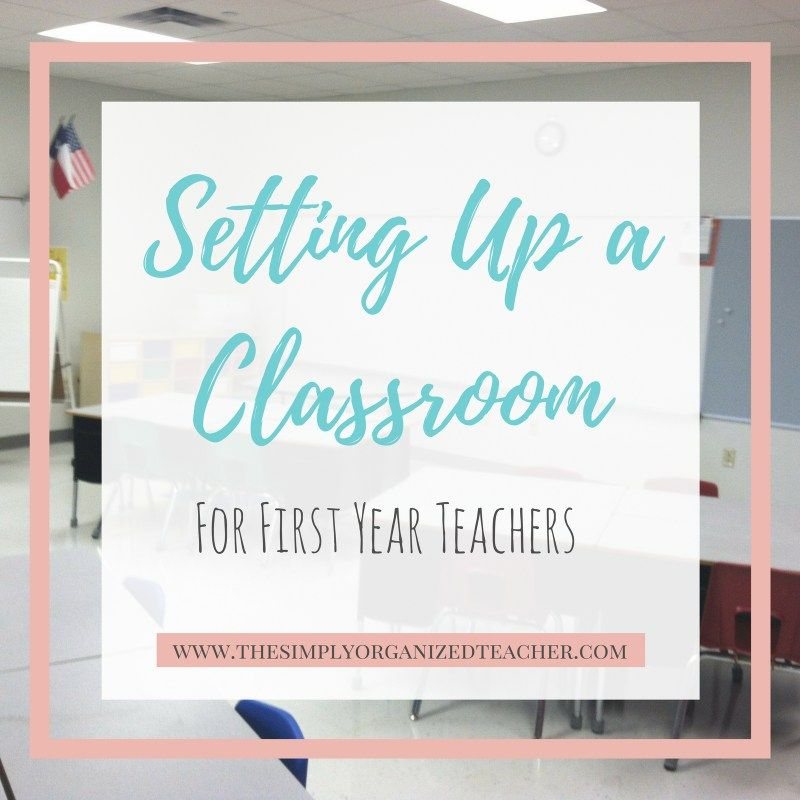 First Year Teacher: Setting Up a Classroom #elementaryclassroomdecor