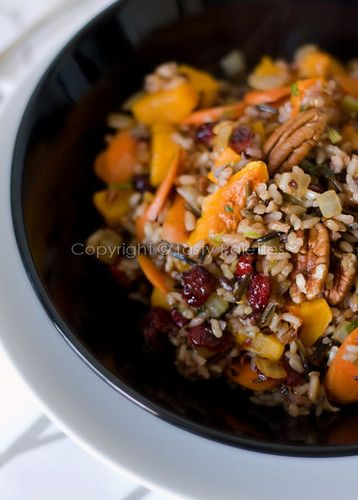 Tasty Palettes: Pecan, Squash and Cranberries Speckled Wild Rice