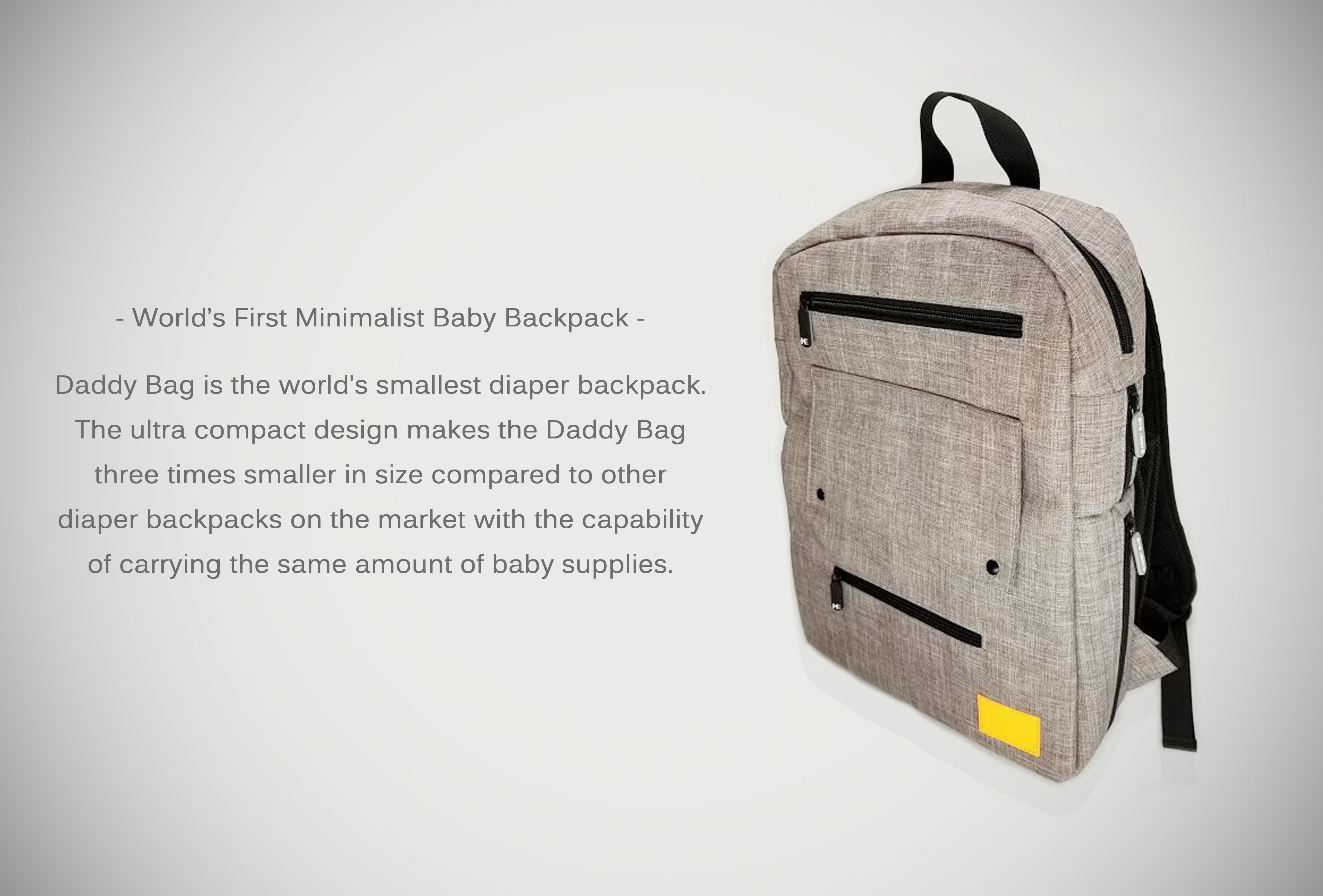 8003b11fc3330f the Daddy Bag. The Worlds First Minimalist Diaper Backpack! www.  HanaEveryday.com. Available on Kickstarter starting October 20th, 2017!