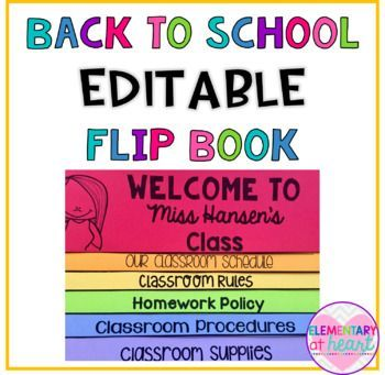 Back to school editable flip book templates flip books and school this flip book is something that you can edit and personalize yourself to fit your classroom this is great to use for open house back solutioingenieria Image collections