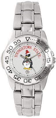 Youngstown State University Penguins Ladies Sports Steel Watch by SunTime. $49.95