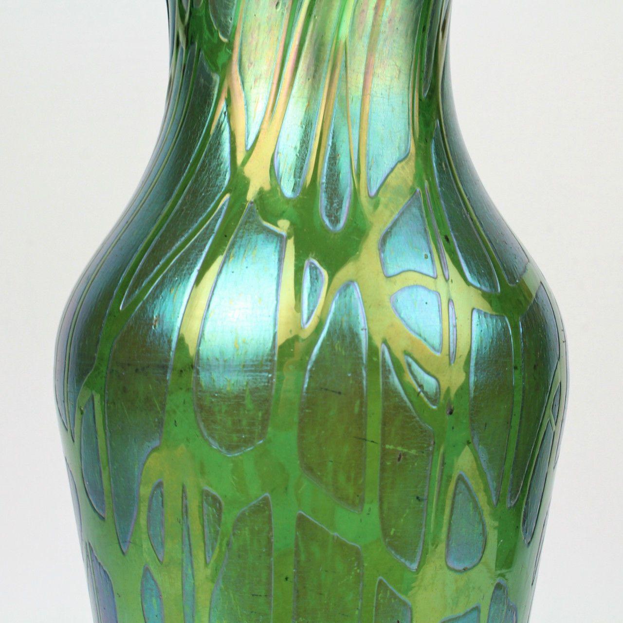 Large Loetz Type Art Nouveau Green Papillon Art Gl Vase - GL ... on zipper car, zipper hat, zipper wall, zipper bracelet, zipper doll, zipper painting, zipper mask,