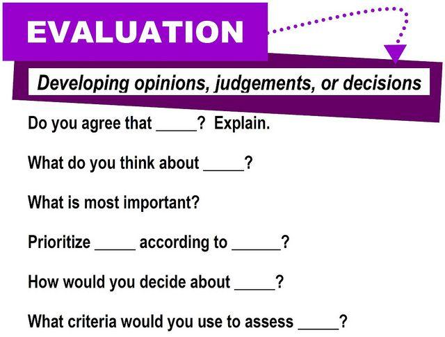 Evaluation [critical thinking skills] | Deutsch lernen, Lernen und ...