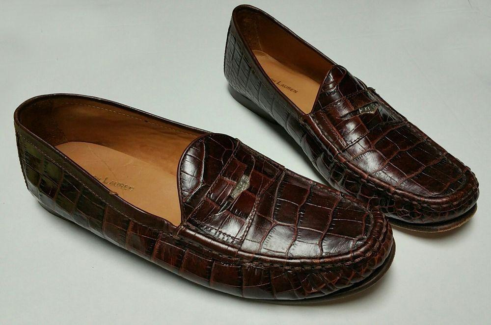 ralph lauren alligator shoes - 65% OFF