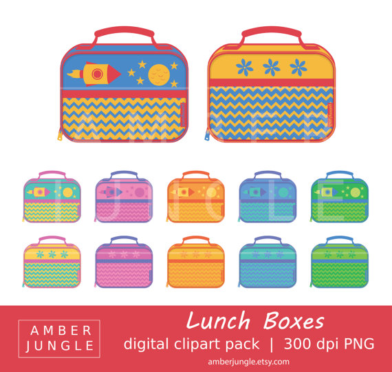 Lunch Box Clipart - Instant Download! Soft Cloth Lunch Box Clip Art