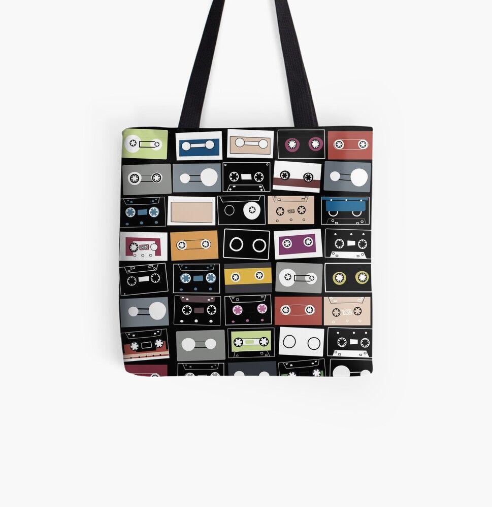 nostalgia tote bag Cassette tote bag retro cassette tote bag tote bag unique tote bag Retro bag
