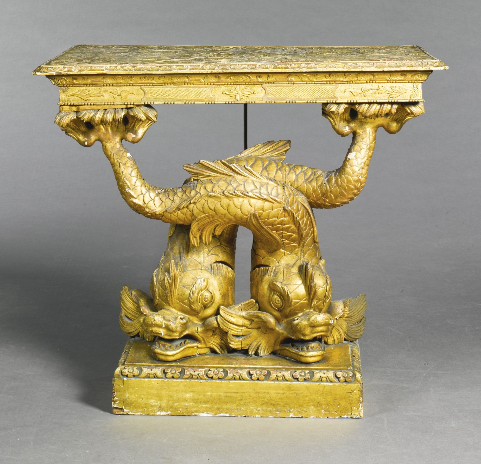 A George Ii Carved Giltwood And Gesso Console Table Circa 1735 Lot Fine Antique Furniture Gilded Furniture Fantasy Furniture