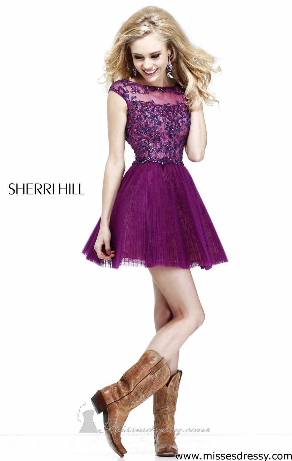 A-Line Appliqued Dress by Sherri Hill | UX/UI Designer, Dresses and ...