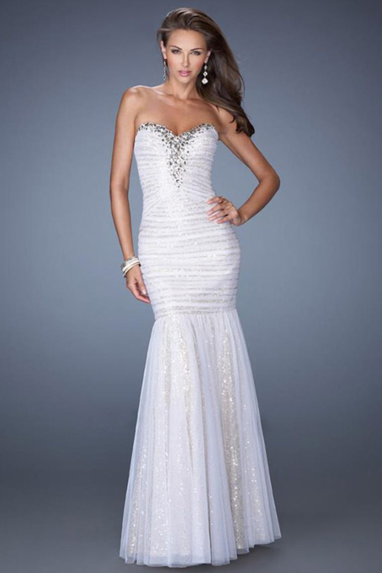 Sweetheart Mermaid Prom Dress With Adorn Neckline And