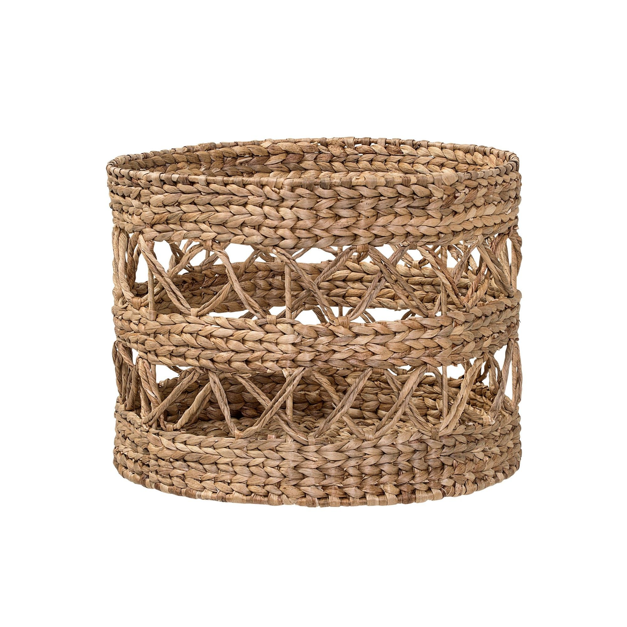 15 7 X 11 7 Round Open Weave Natural Water Hyacinth Basket Brown 3r Studios Water Hyacinth Open Weave Basket