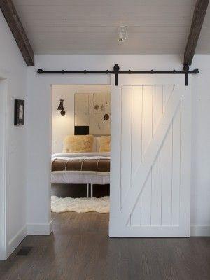 DIY Faux Barn Doors:  Hollow Core Door Makeover