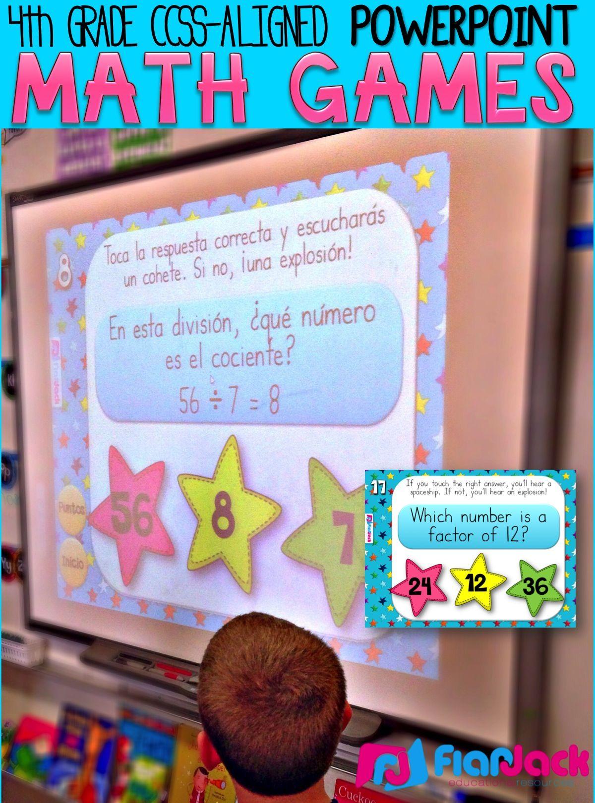 4th Grade Math Powerpoint Games Mega Bundle Flapjack