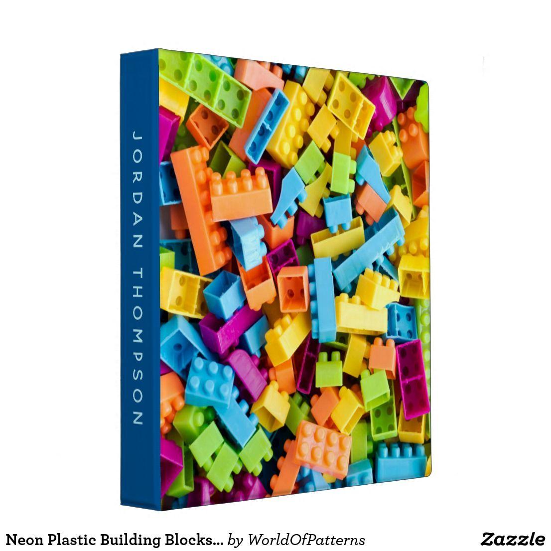 Neon Plastic Building Blocks