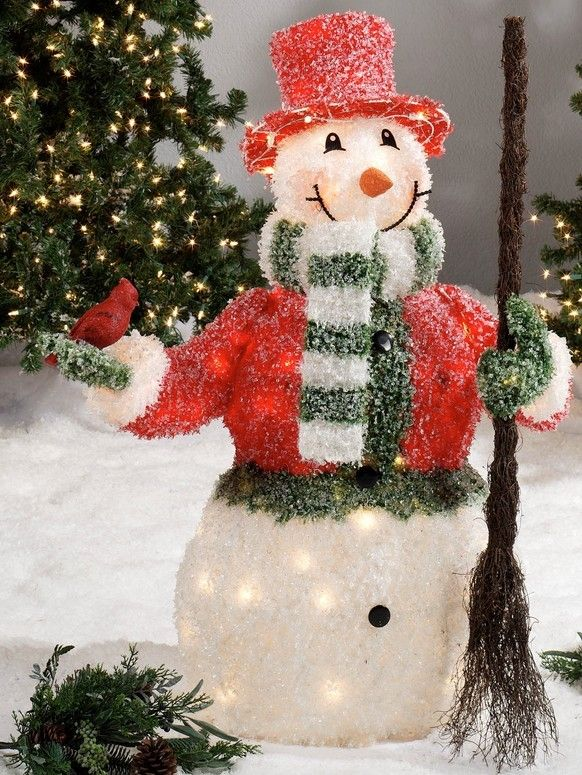 2013 outdoor Christmas snowman decor, LED sweeping snowman for