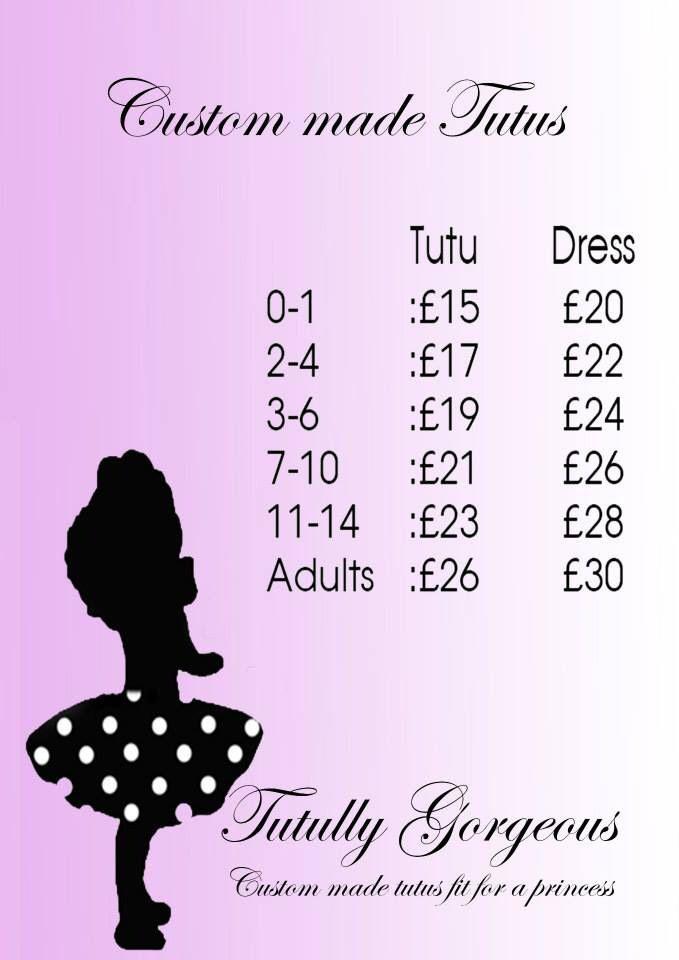 Tutu dress and tutu skirt prices - price list cute girls girly fun ...