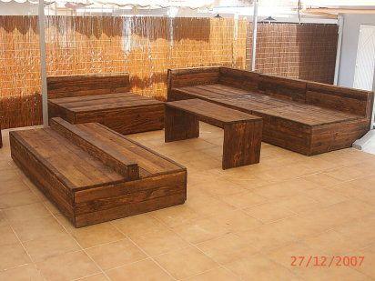 Artesania con palets original ideas with pallets for Cosas con madera reciclada