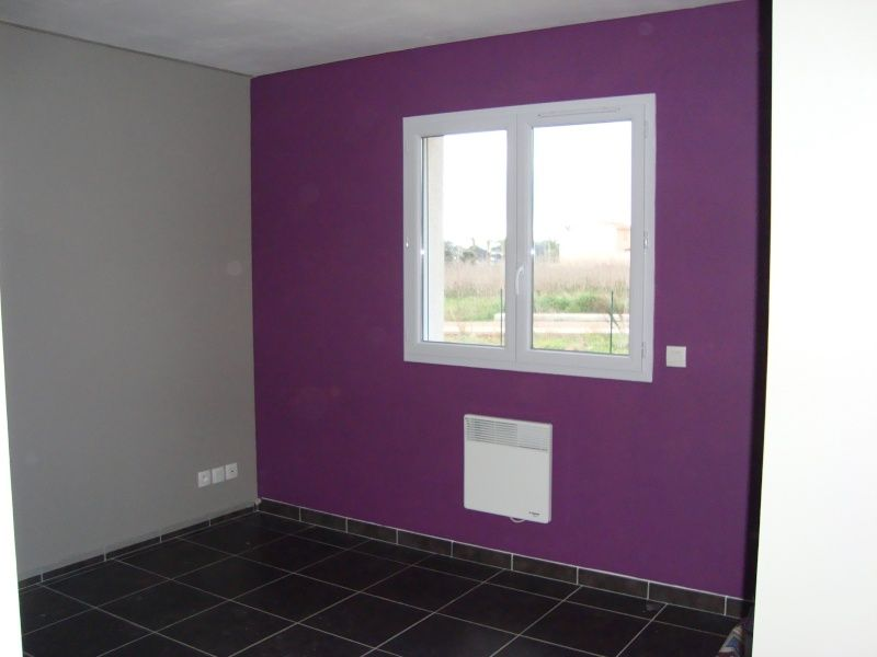 peinture termin e place la deco violet pinterest la deco gris et chambre prune. Black Bedroom Furniture Sets. Home Design Ideas