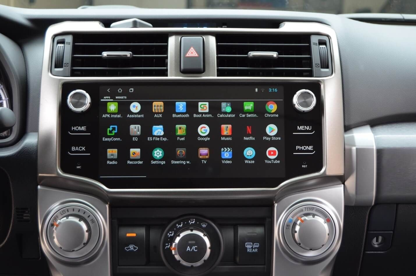 Android Head Unit Upgrade on 5th Gen 4Runner, Complete