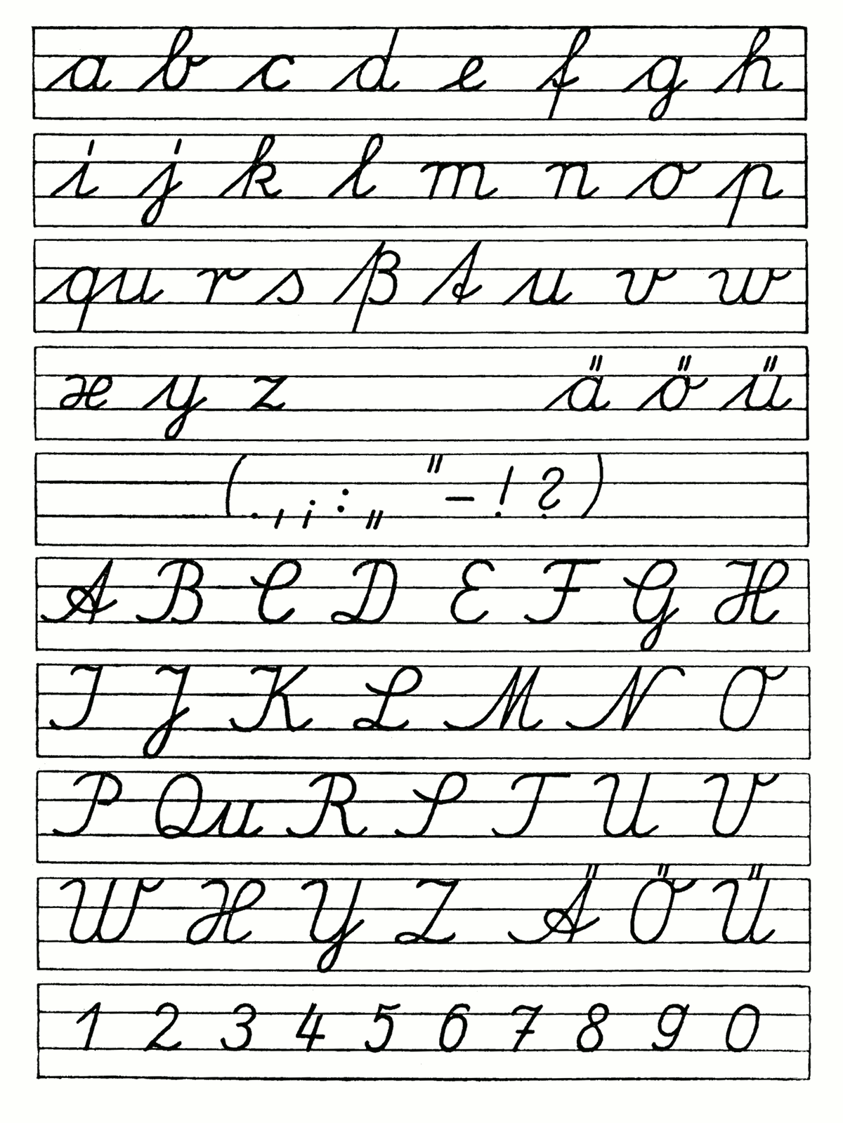 Printable Elegant Cursive Writing A To Z 14 Gkmhl Cursive