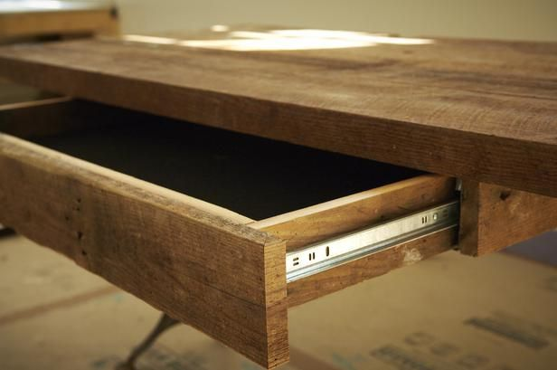 How To Build A Reclaimed Wood Office Desk : How To : DIY Network