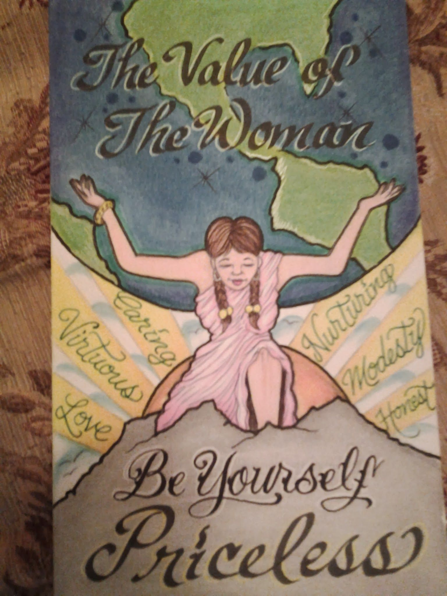 no language can describe a woman worth! greeting card i drew.