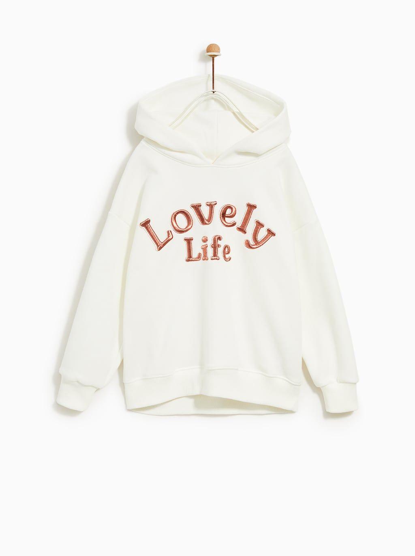 783b992e TEXT SWEATSHIRT | GIRLS in 2019 | Sweatshirts, Zara kids, Kids fashion