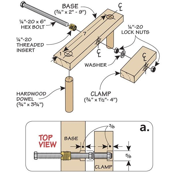 Shop-Made Bench Top Clamp
