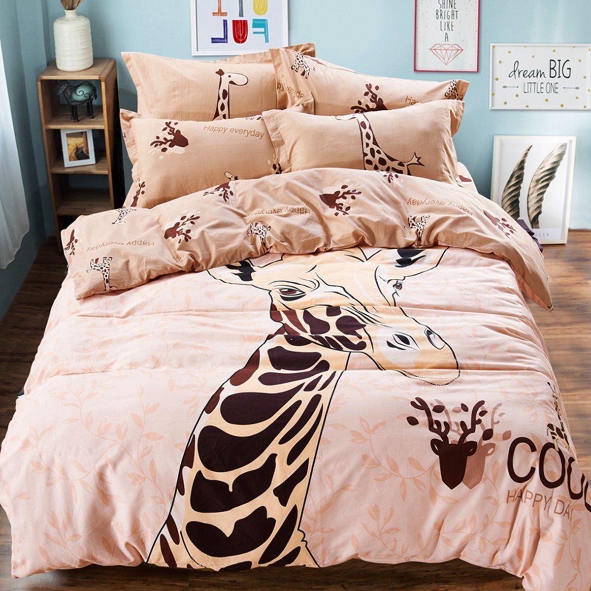7 Piece Giraffe Animal Kingdom Bedding Comforter Set Home