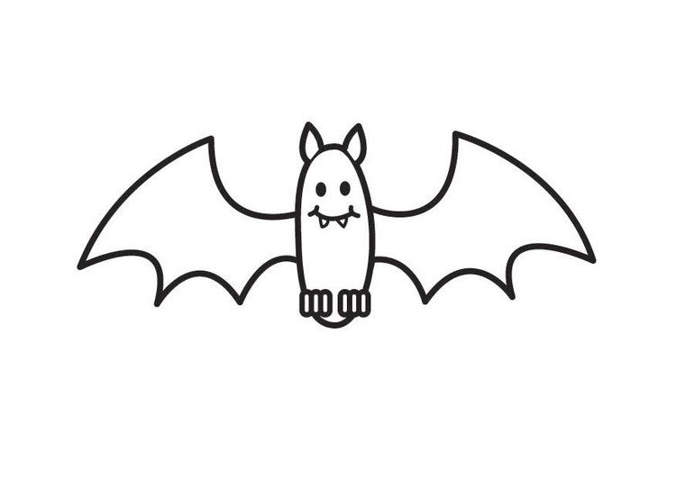 25 Desenhos Moldes E Riscos De Morcegos De Halloween Para Colorir