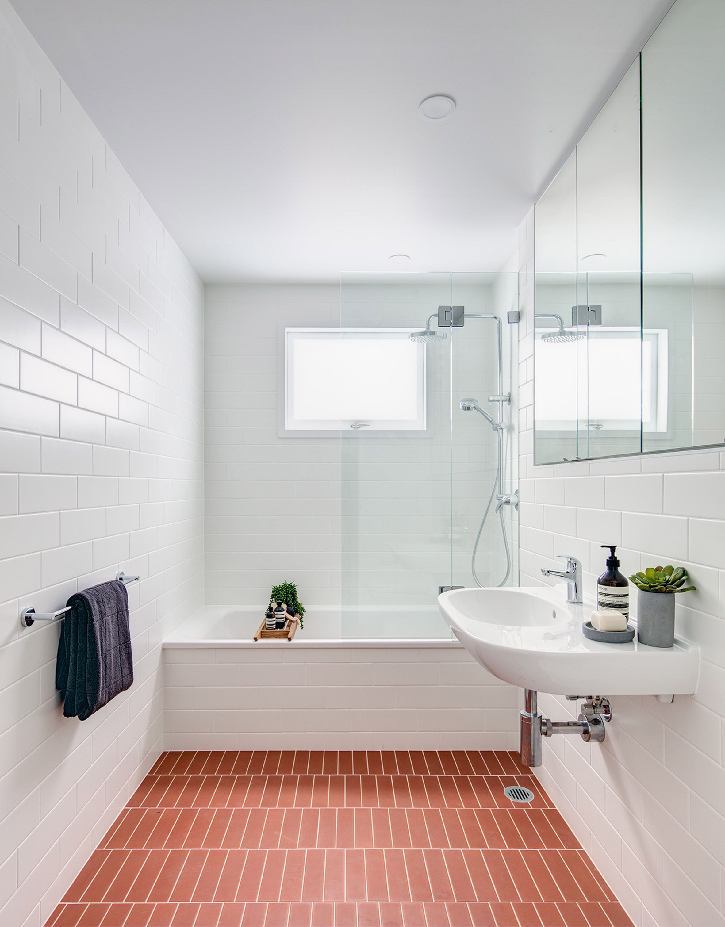 Co Ap Has Renovated And Extended A Typical Suburban Home In Australia Adding A Two Storey Bathroom Interior Design Manufactured Home Remodel Bathroom Interior