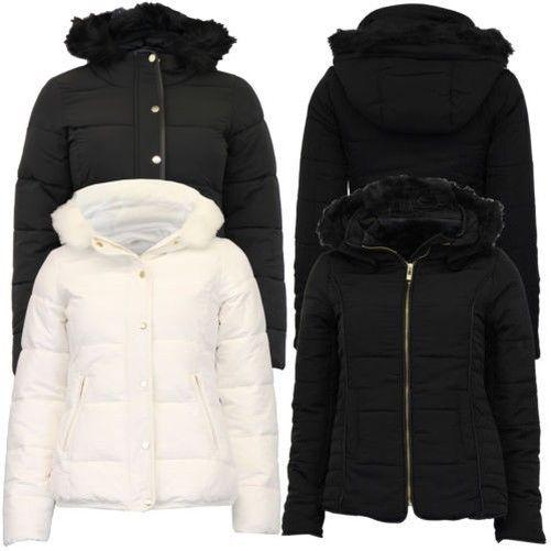 f086557cf09 Ladies Parka Jacket Womens Brave Soul Coat Padded Wadded Hoodie Fur ...