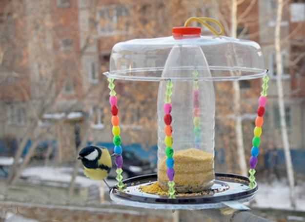 Recycled Crafts For Kids And Adults Handmade Bird Feeders Recycling Plastic Bottles