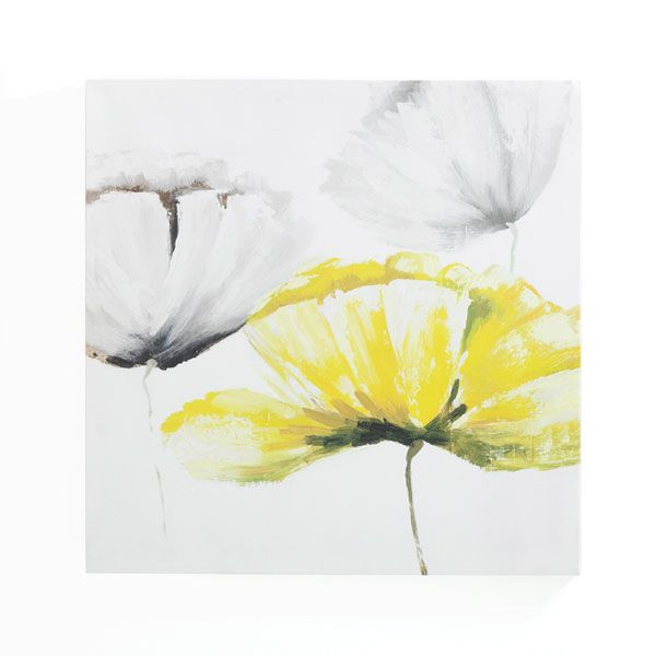 Inspiration for Spare Room make over. Grey, white and yellow floral ...