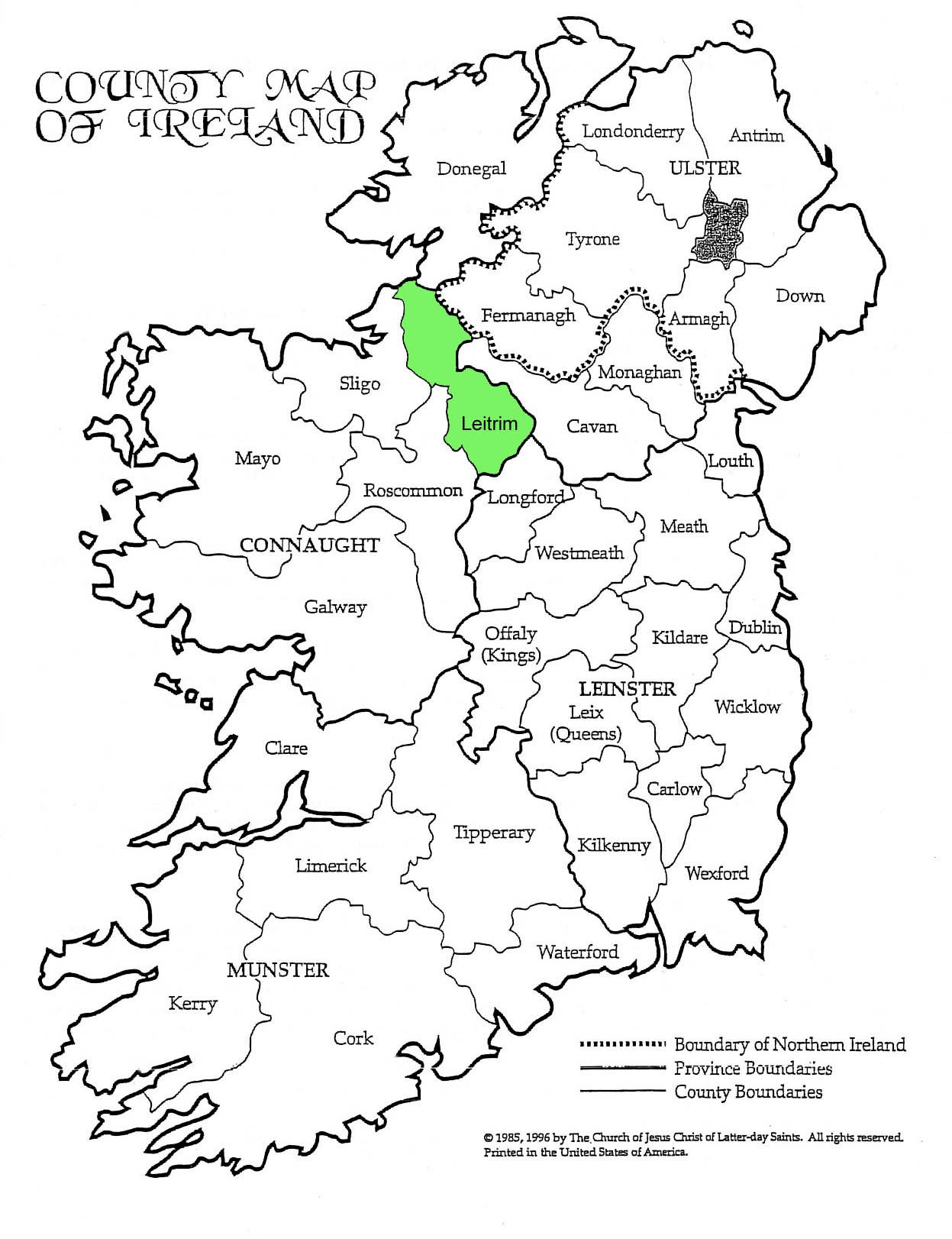Map Of Ireland Cavan.County Leitrim Ireland Research Ireland County Cork Ireland