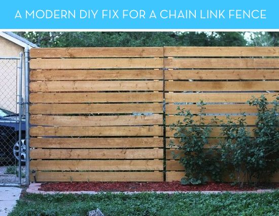 Chain Link Fence Privacy Ideas how to: a smart solution for covering an ugly, existing chain link