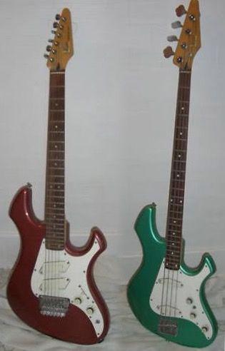 Fender Performer bass and guitar